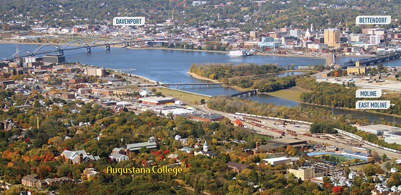 Aerial view of Augustana