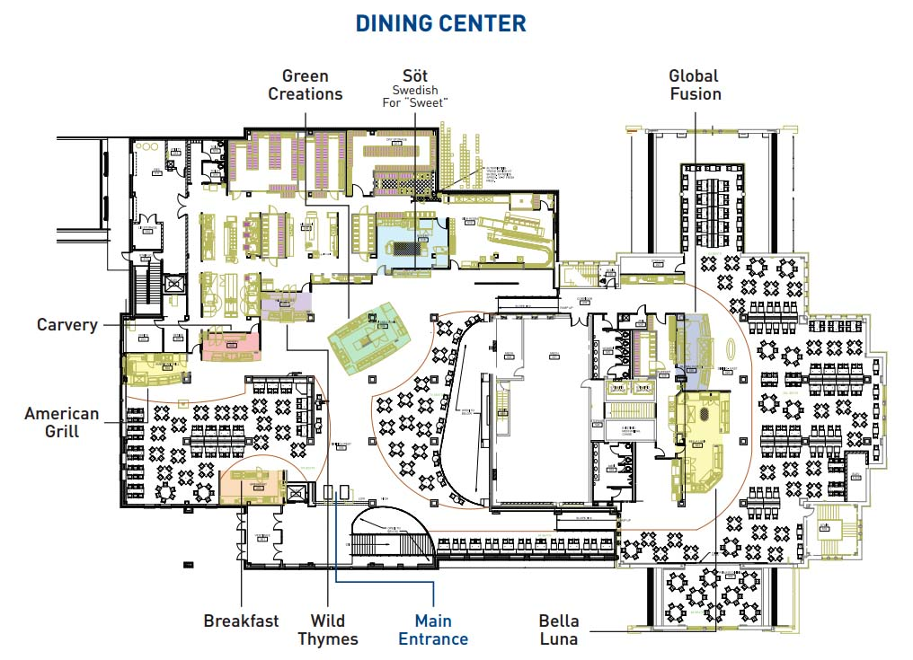dining center map