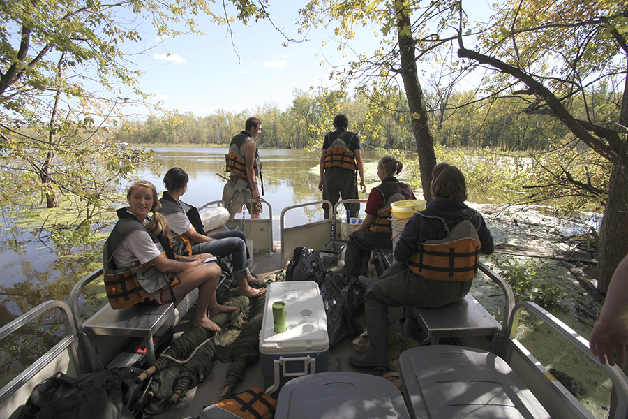 "A ""floating class"" on nearby Rock River"