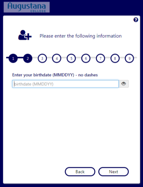 Step 4: (a) Answer a question to verify your identity - birthdate (MMDDYY)