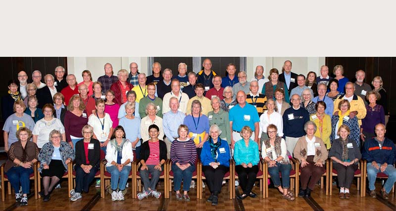 Attendees at the 45th reunion during Homecoming 2013.
