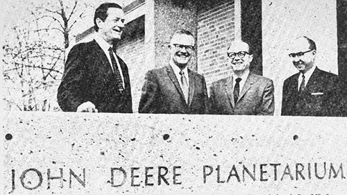 dignitaries at planetarium dedication