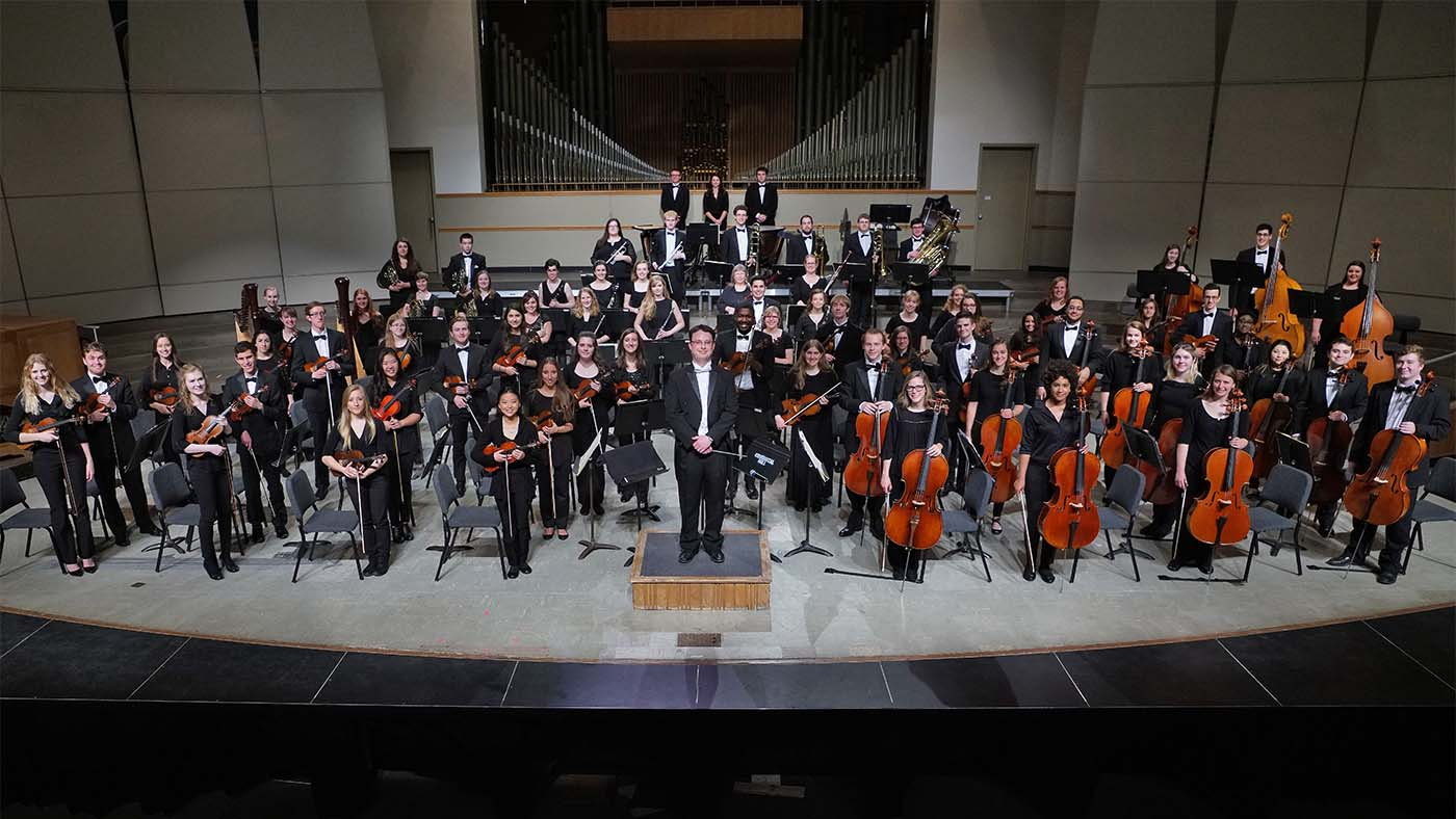 Augustana Symphony Orchestra in Centennial Hall May 13, 2017.