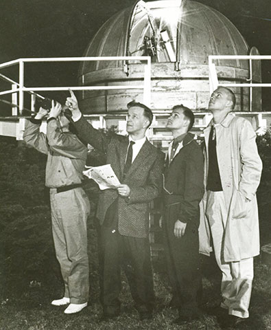 students at observatory