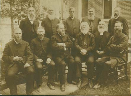 25th anniversary meeting of Augustana Synod in Rockford (Ill.), 1885. From the Scandinavian American Portrait Collection, Swenson Swedish Immigration Research Center.