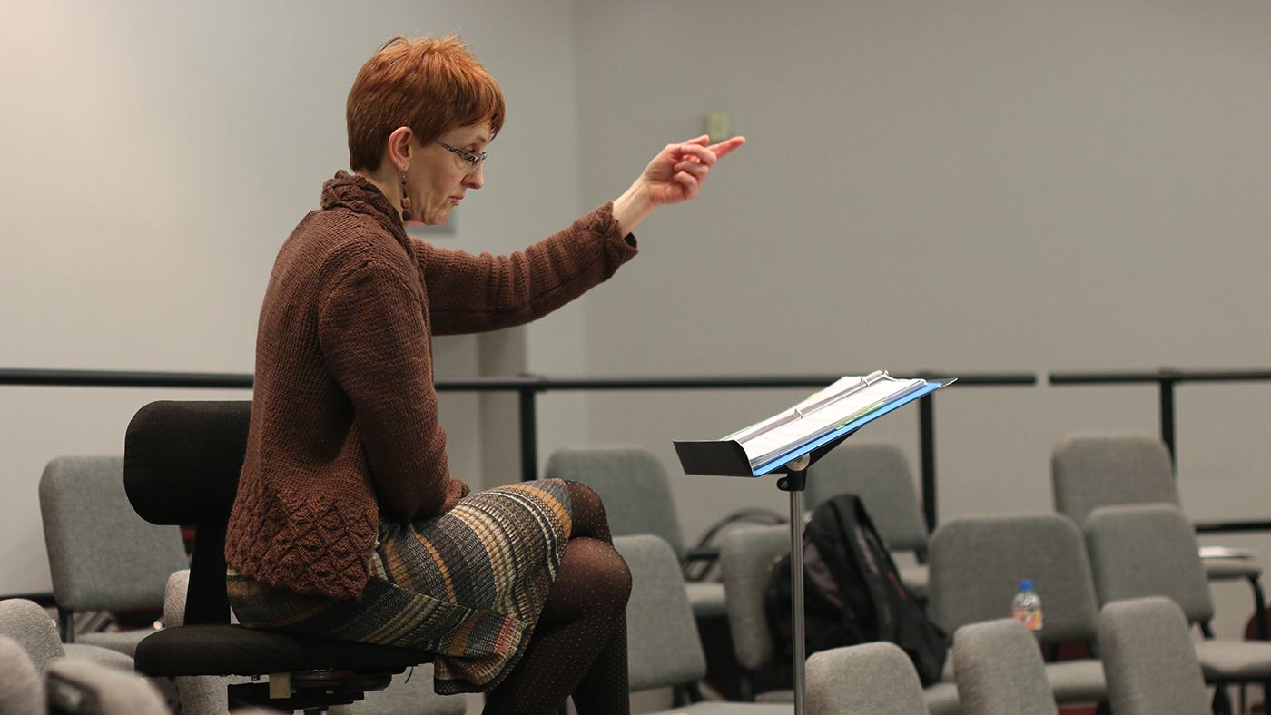Michelle Crouch, opera rehearsal