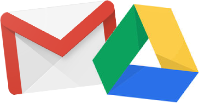 Gmail and Drive icons