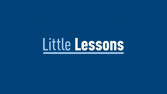 Little Lessons Header