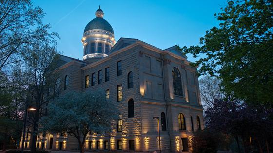 Old Main at night
