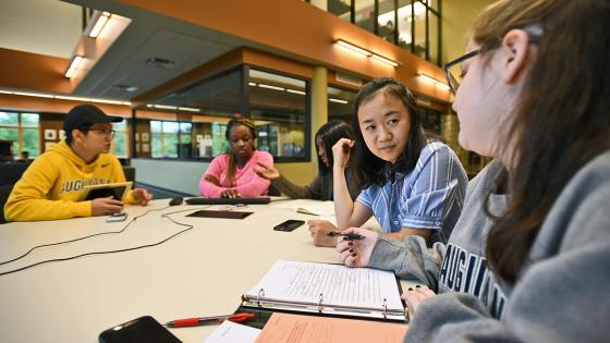 students enjoy time together on campus